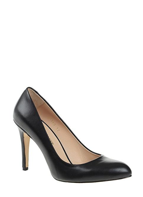 D by Divarese %100 Deri Topuklu Ayakkabı Siyah